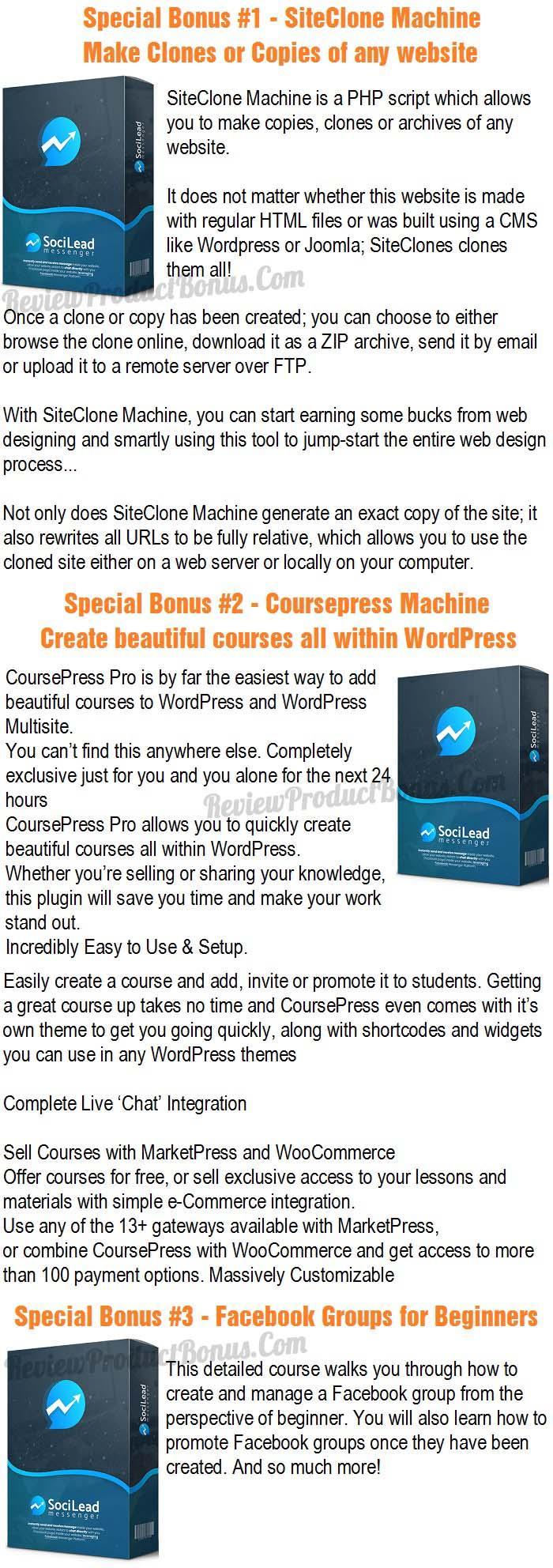 SociLead Messenger Bonus