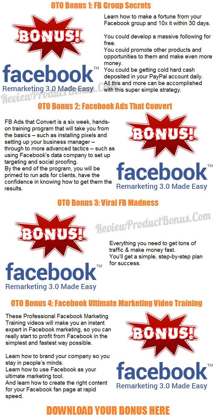 Facebook Remarketing 3.0 Success Kit Bonus OTO