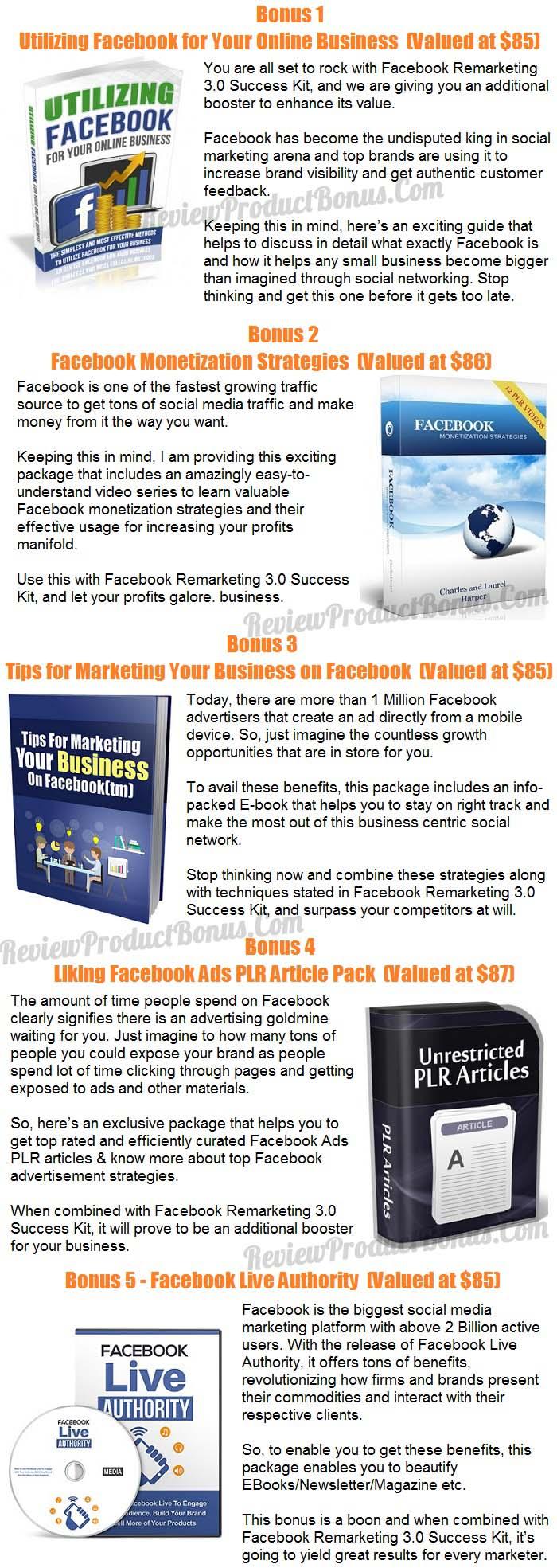 Facebook Remarketing 3.0 Success Kit Bonus