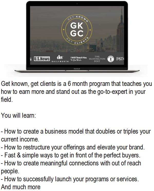 Get Know - Get Clients