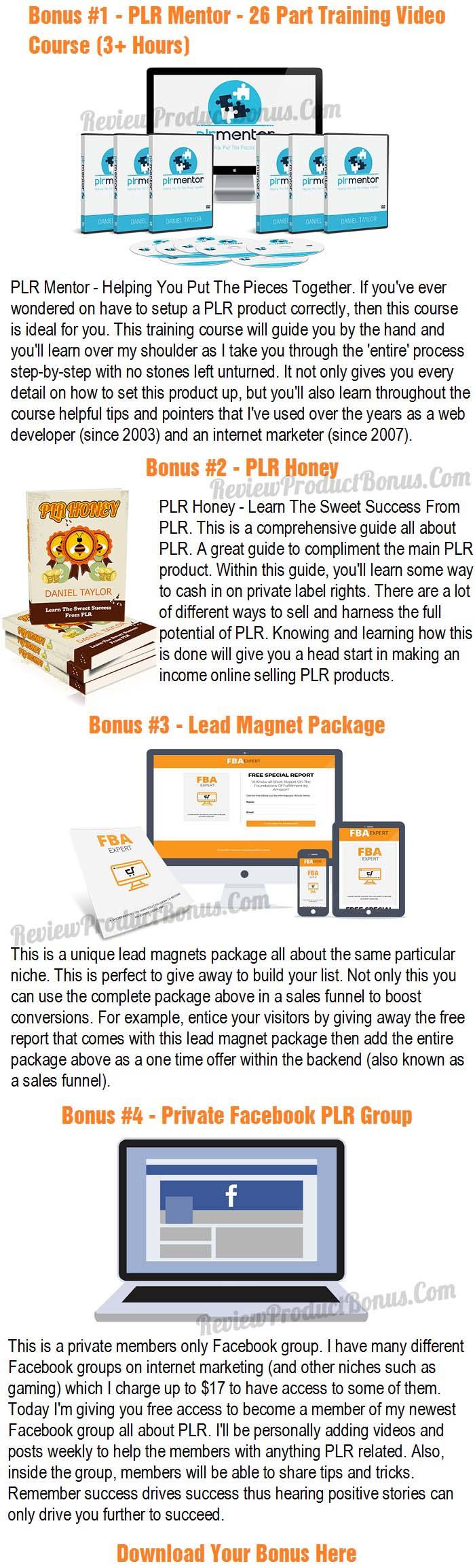 PLR Fulfillment By Amazon Bonus