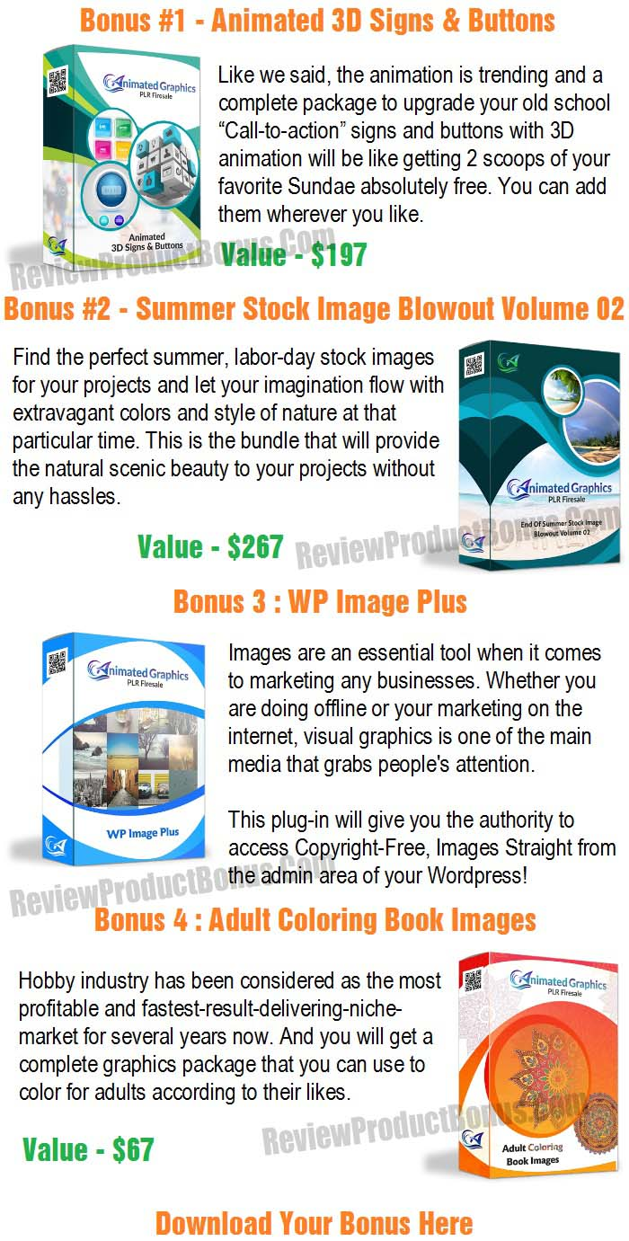 Animated Graphics PLR Bonus