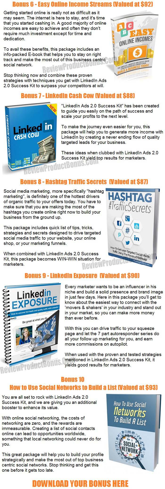 LinkedIn Ads 2.0 Bonuses