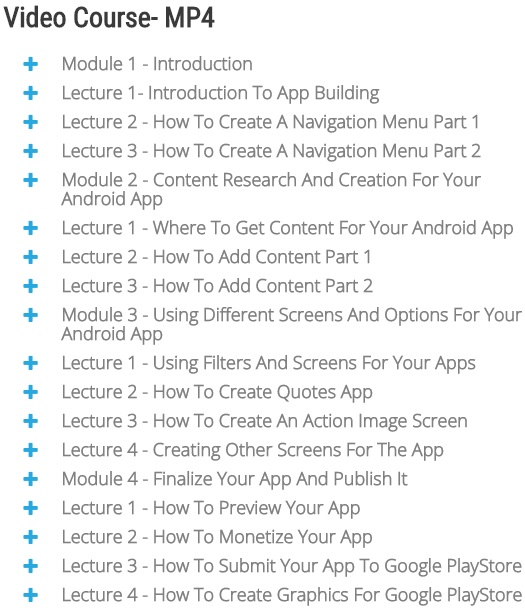 Youdemy PLR Android App eCourse Module 1