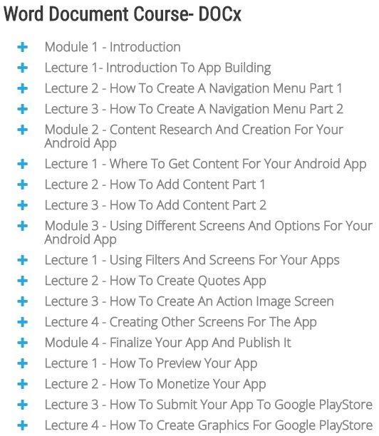 Youdemy PLR Android App eCourse Module 2