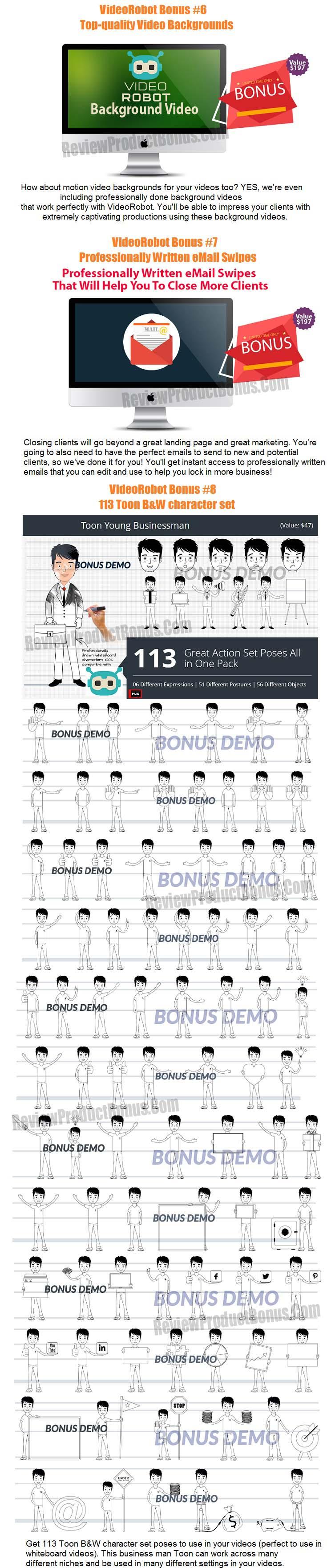 VideoRobot Bonuses