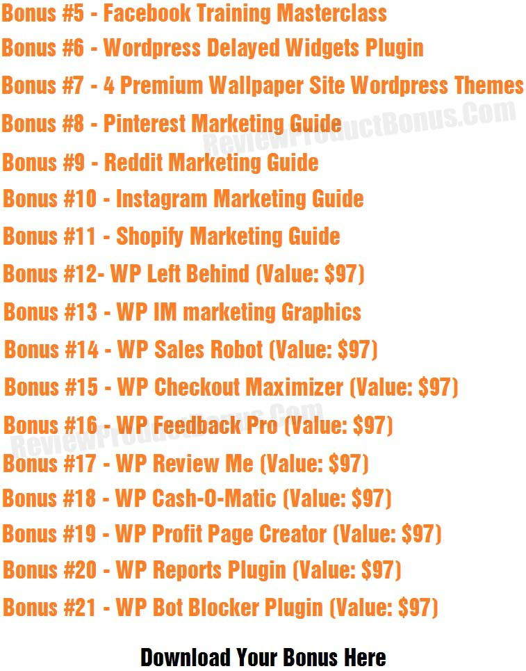 WP Leads Machine Bonuses