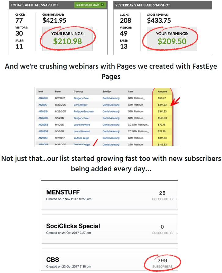 FastEye Pages Proof