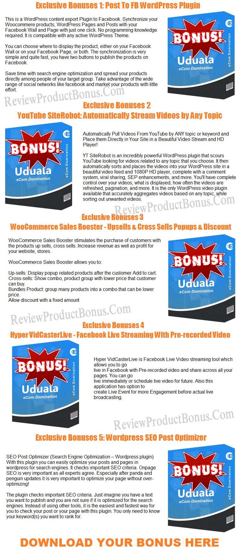 Uduala eCom Bonus