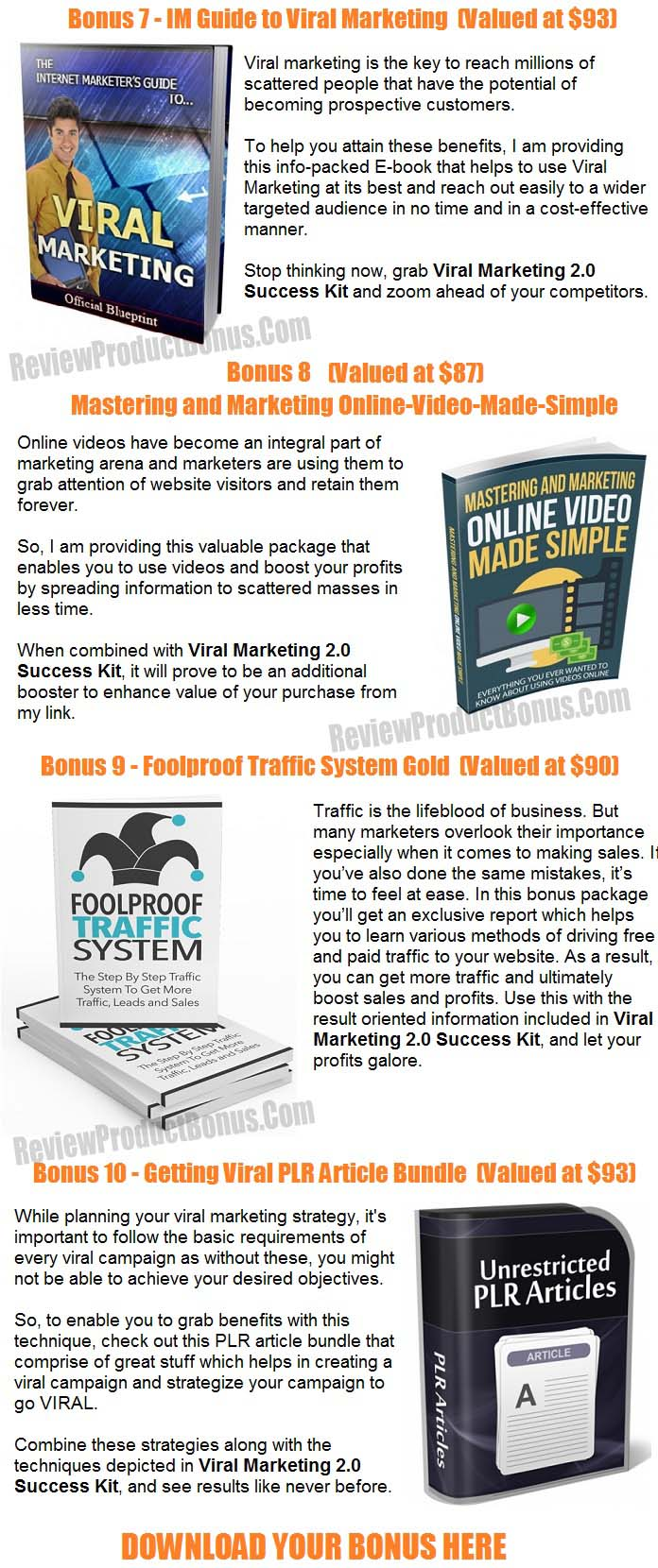 Viral Marketing 2.0 Bonuses
