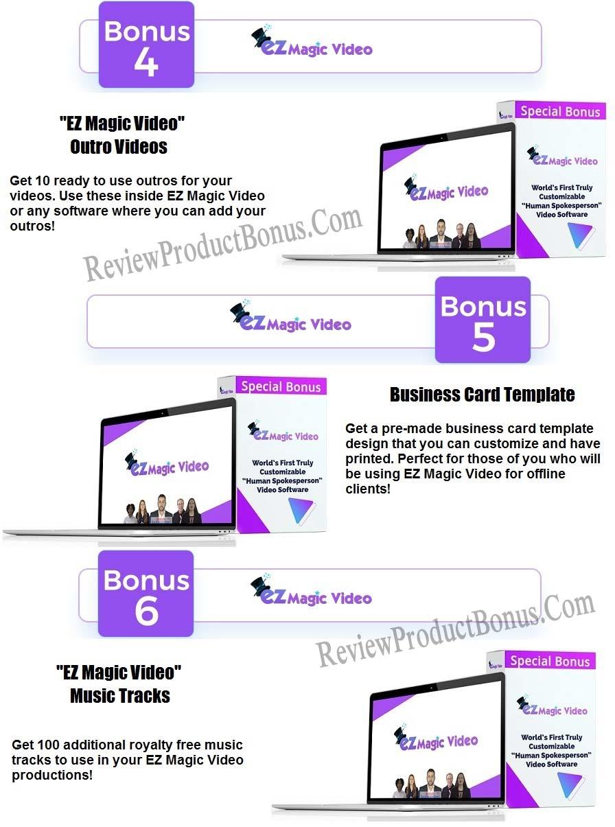 EZ Magic Video Bonuses