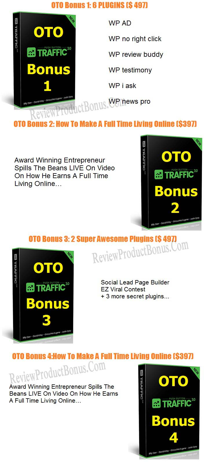 Push Button Traffic 3.0 Bonus OTO