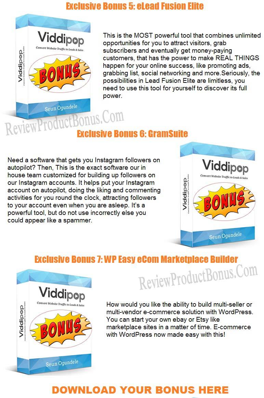 Viddipop Bonuses