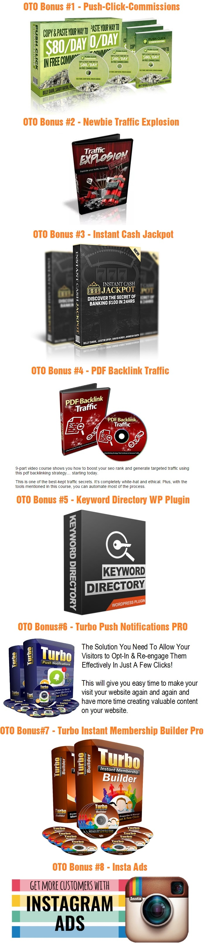 Viral Traffic Machine Bonus OTO