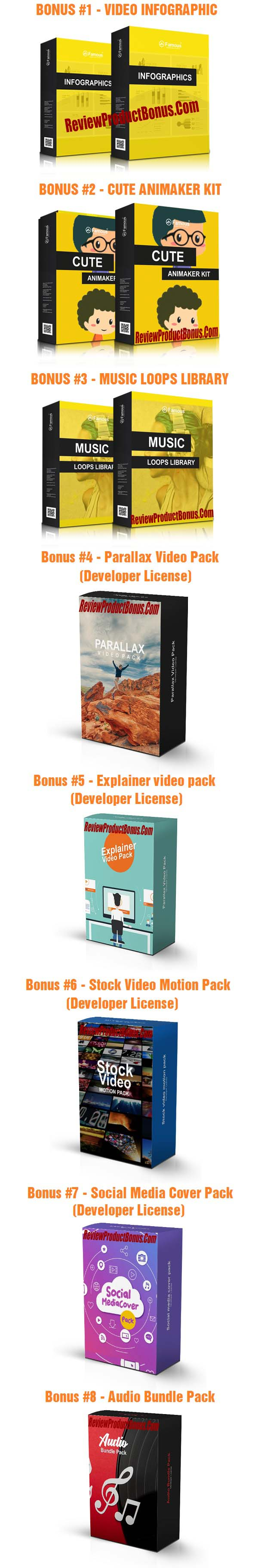 Famous Video Templates Bonus