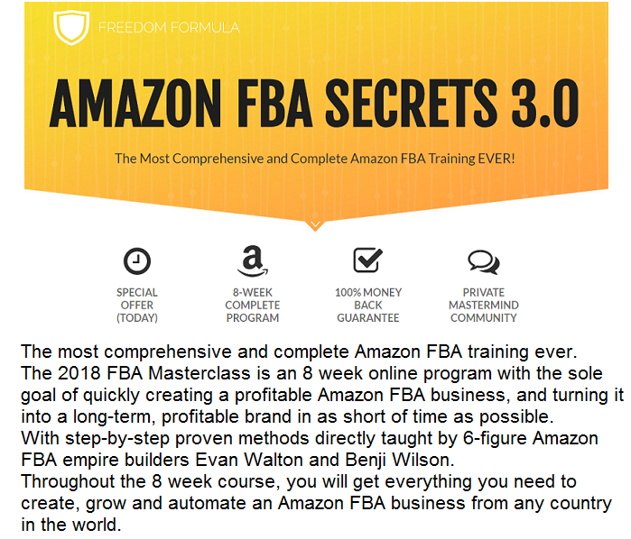 Amazon FBA Secret 3.0