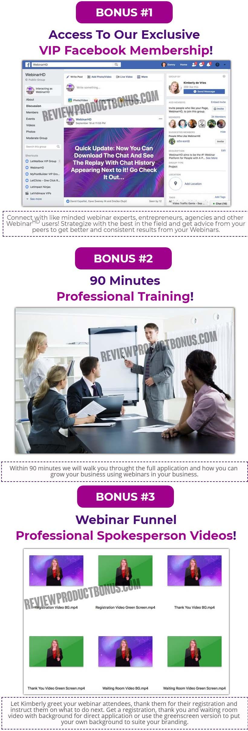 WebinarsHD Bonuses
