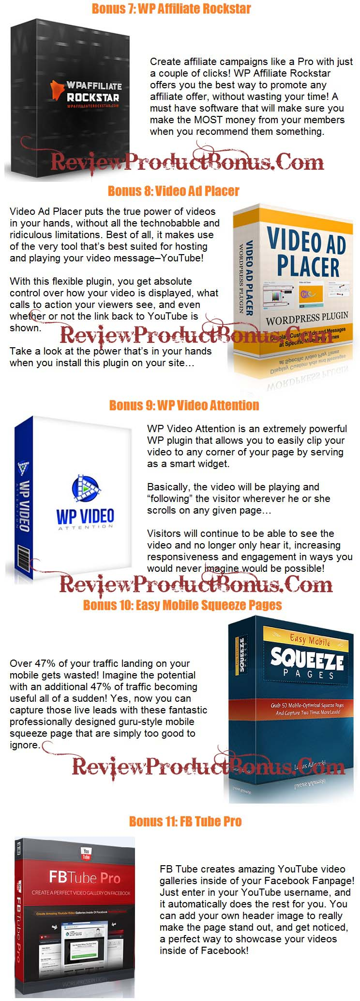 ClickVidio Bonuses
