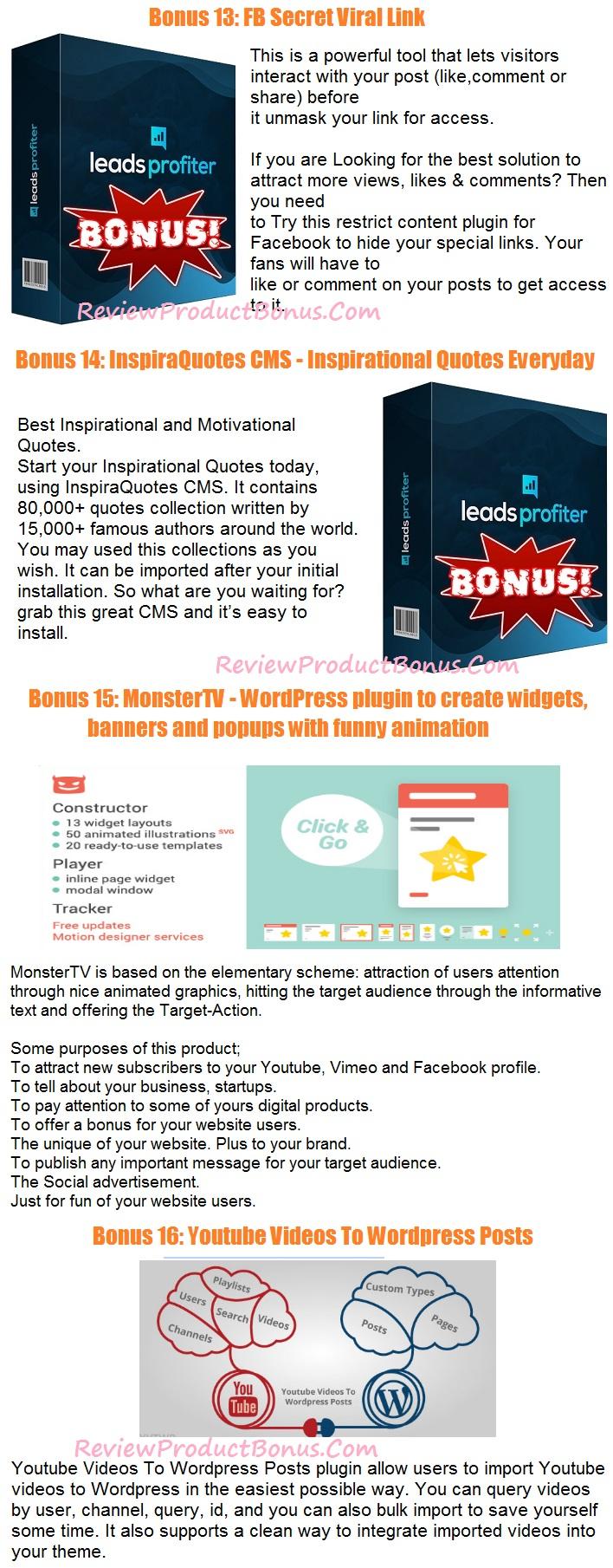 Leads Profiter Bonus 3