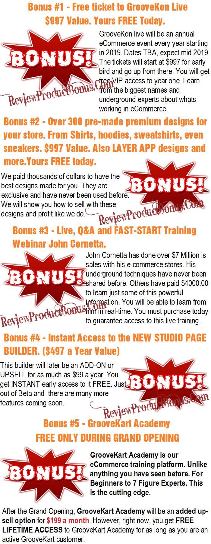 GrooveKart Bonuses