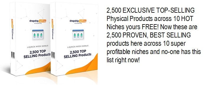 2,500 Top Selling Physical Products