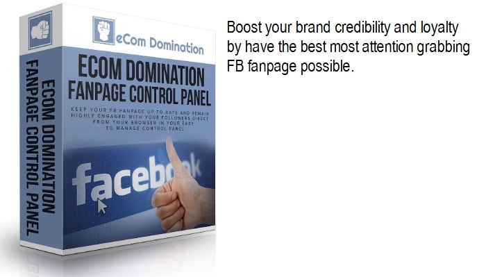 eCom Domination FanPage Control Panel
