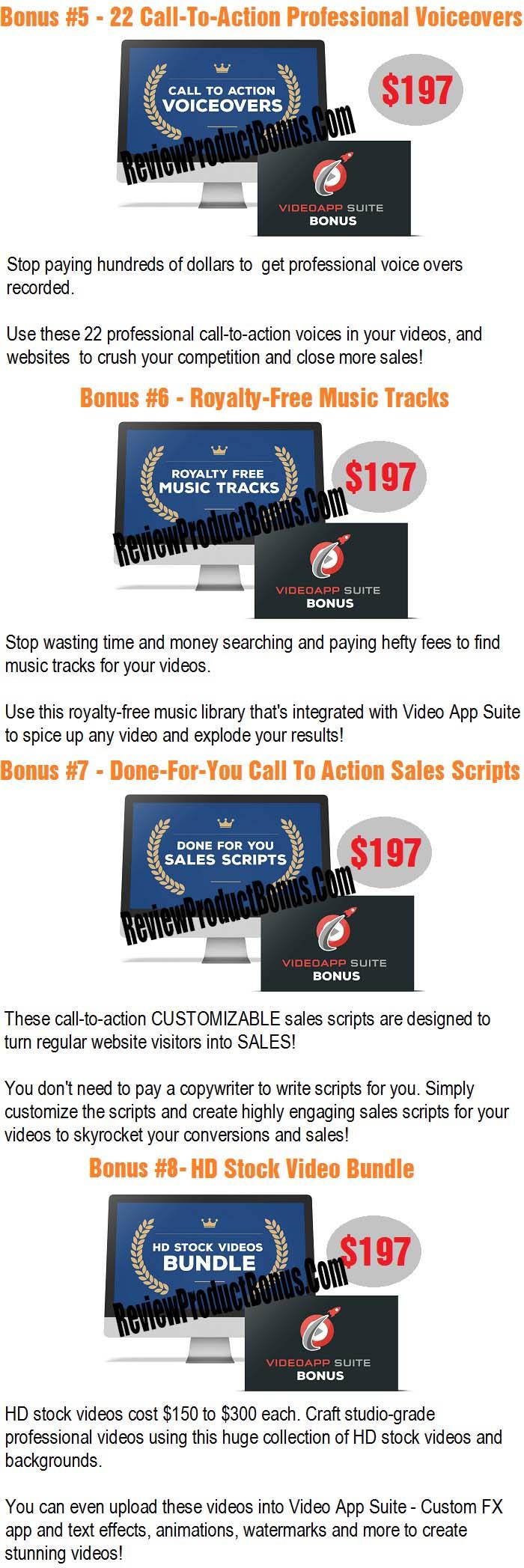 Video App Suite Bonuses