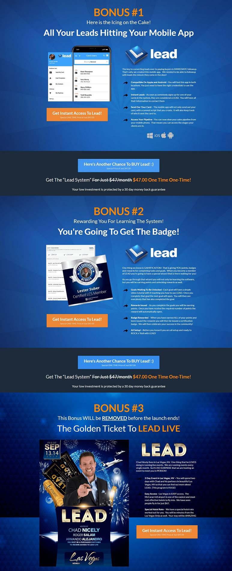 Lead App Bonus