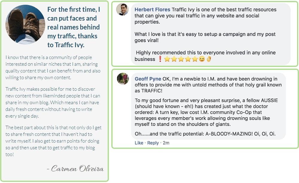 Traffic Ivy Testimonial