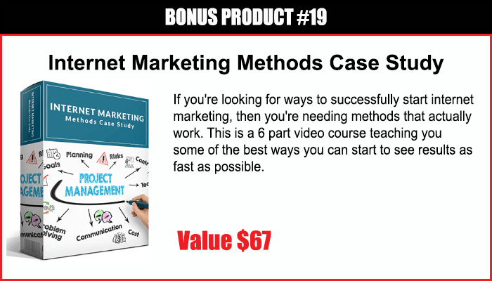 Internet Marketing Methods Case Study
