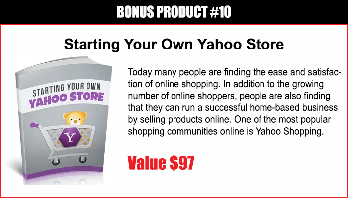 Starting Your Own Yahoo Store
