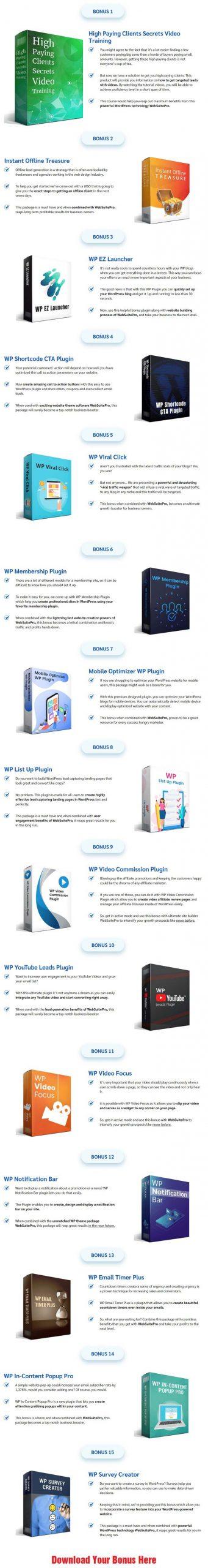 WebSuitePro Bonuses