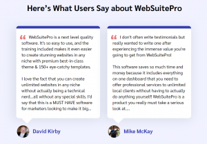 WebSuitePro Testimonial