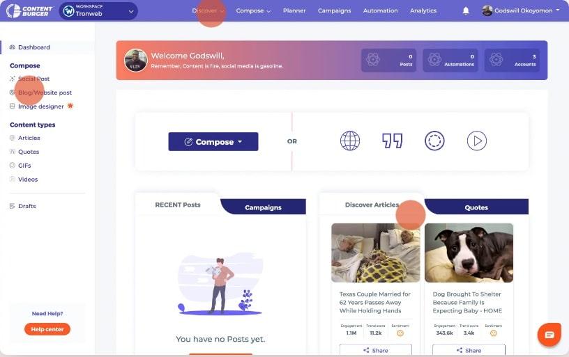 ContentBurger Step1