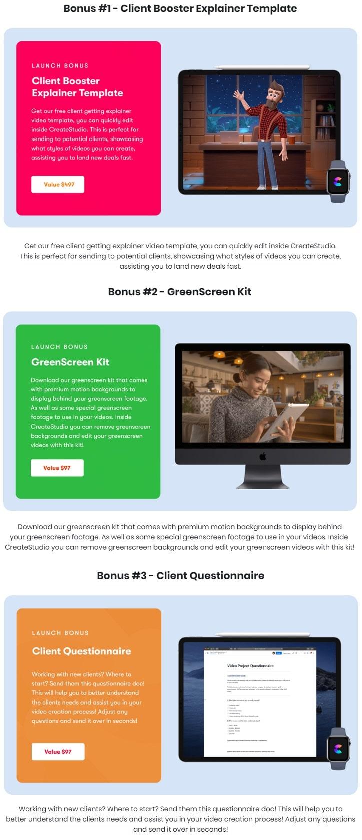 CreateStudio Bonus