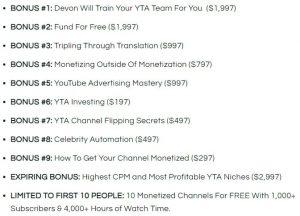 YTA Masterclass Bonus