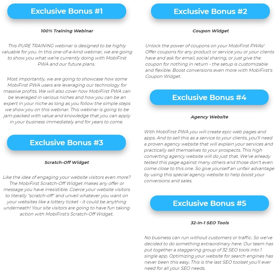 Progressive Web Apps Agency by MobiFirst Bonus