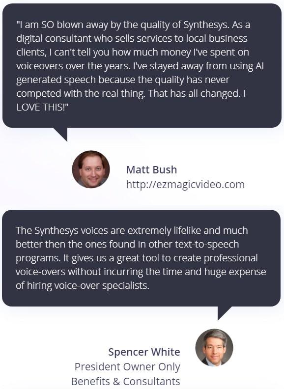 Synthesys Testimonial