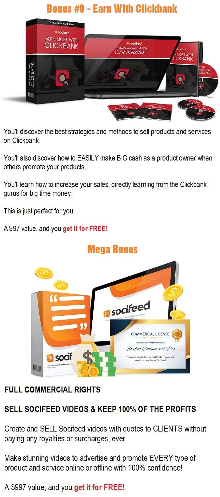 SociFeed Pro Bonuses