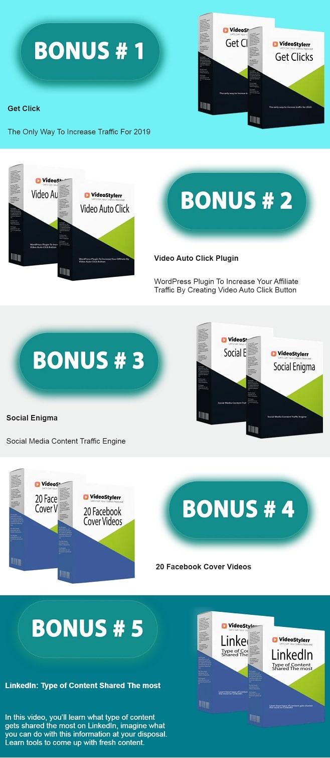 VideoStylerr Bonuses
