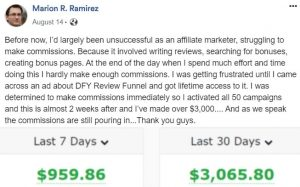 DFY Review Funnel Proof 4