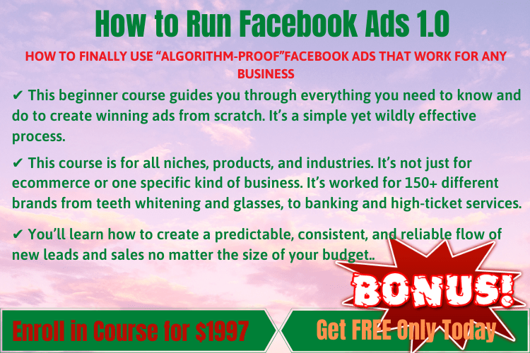 How To Run FB Ads