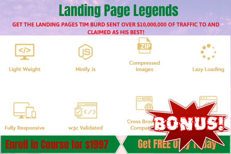 Landing Page Legends