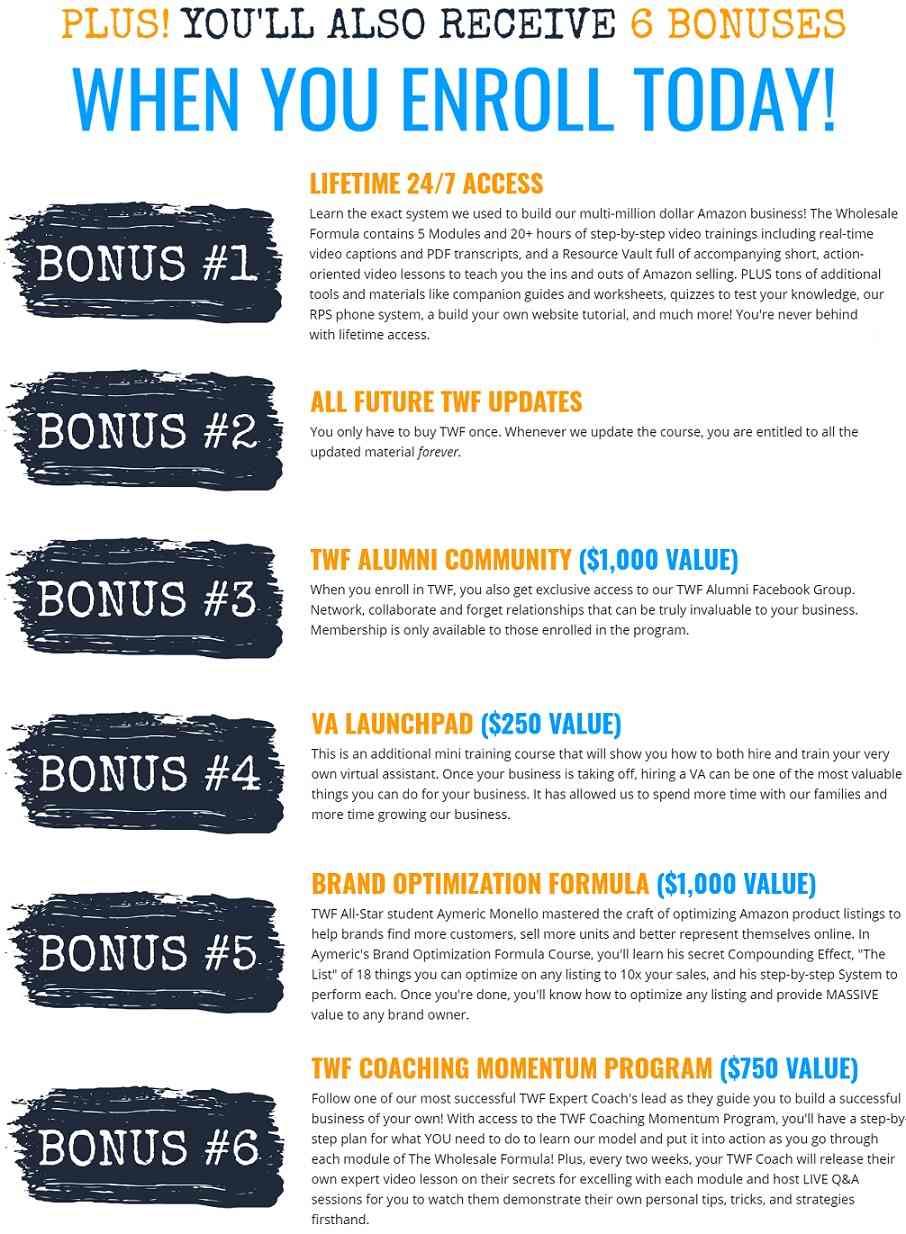 The Wholesale Formula Bonus