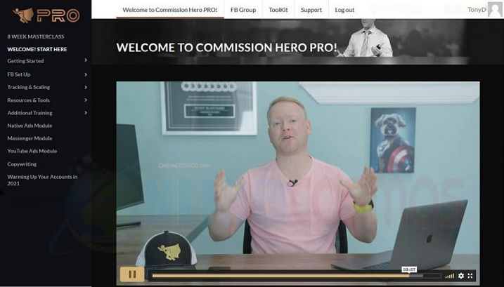 Commission Hero Pro Member Area