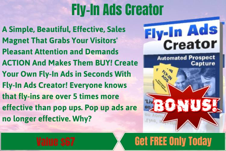 Fly-In Ads Creator