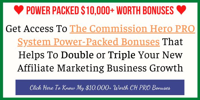 Power Packed $10,000+ Worth Commission Hero Pro Bonus 2021