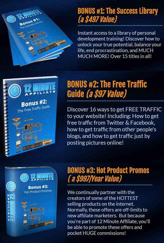 12 Minute Affiilate System Bonus
