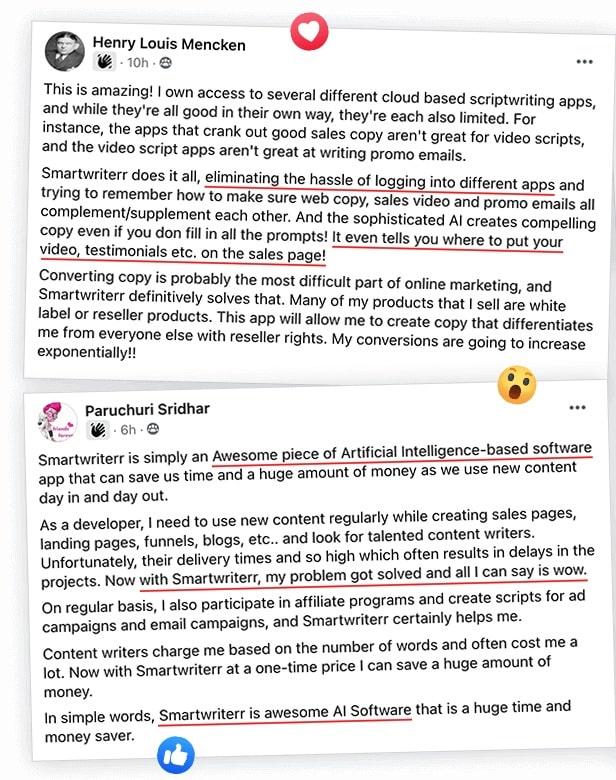 Smartwriterr Testimonials