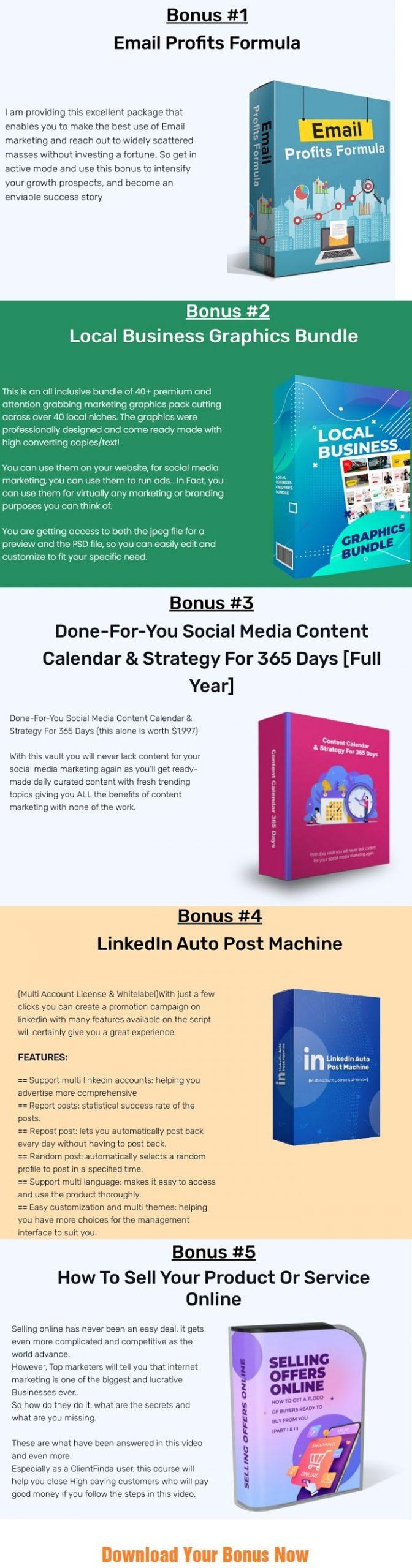 ClientFinda Bonus